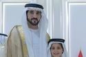 ولي عهد دبي مع ابن  شقيقته الشيخ حمدان بن منصور