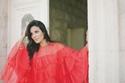 نادين نسيب نجيم بفستان متعدد الطبقات من الشيفون