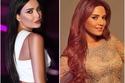 سيرين عبد النور أصل لون شعرها بني ولكن اختارت في فترة اللون الأحمر