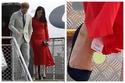 دوقة ساسكس نسيت التخلص من ورقة السعر والبيانات عن فستانها الأحمر