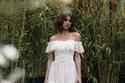 فستان زفاف بأكتاف منسدلة من جورج شقرا