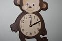 ساعة حائط على شكل حيوان القرد تناسب غرفة الأطفال