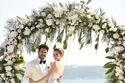 فهرية أفجين وبوراك أوزجفيت من حفل زفافهم