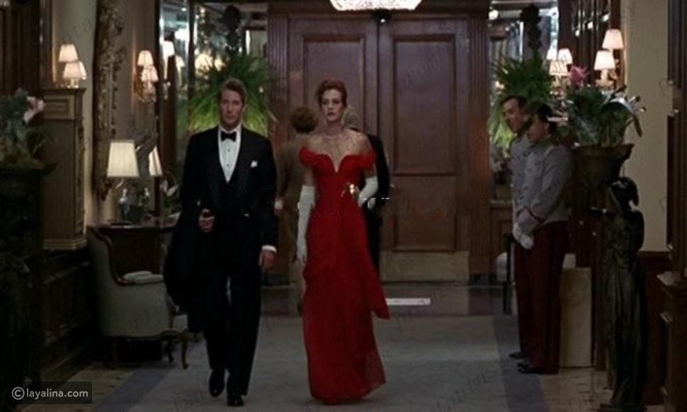 فستان جوليا روبرتس الأحمر الأيقوني الذي ارتدته في فيلمها الشهير Pretty Woman.
