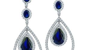 مجوهرات زرقاء: صور أقراط زرقاء من المجوهرات