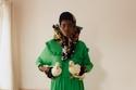 فستان أخضر طويل ومميز من Preen by Thornton Bregazzi