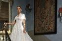 فساتين زفاف تل مطرز منفوش من جورج حبيقة