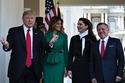 الملك عبد الله الثاني والملكة رانيا مع ترامب وزوجته