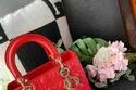 هدية دانة الطويرش عبارة عن حقيبة tote حمراء صغيرة من ماركة Dior