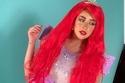 إطلالة فرح الهادي بالشعر الأحمر كعروس البحر بفيلم The Little Mermaid