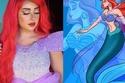 إطلالة فرح الهادي بالشعر الأحمر كعروس البحر في فيلم The Little Mermaid