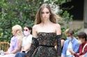 فستان أسود تل مطرز من مجموعة زهير مراد هوت كوتور شتاء 2021