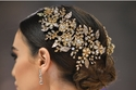 قطعة اكسسوار لشعر العروس من تصميم زهير مراد