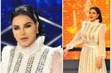 أحلام ارتدت فستاناً أبيضاً من تصميم رامي قاضي