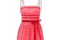 فستان وردي مكشكش من Molly Goddard