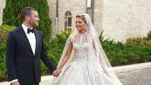 اللقطات الأولى لزفاف ابن إيلي صعب..العروس تطل كالأميرات بفستان ساحر