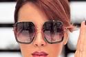 3 النظارة المربعة للوجة الدائري