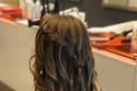 تسريحة الشعر الطويل المنسدل مع الضفاير