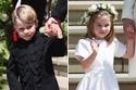 الأميرة شارلوت والأمير جورج ابني الأمير ويليام