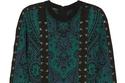 """فستان أسود و أخضر من """"Balmain"""""""