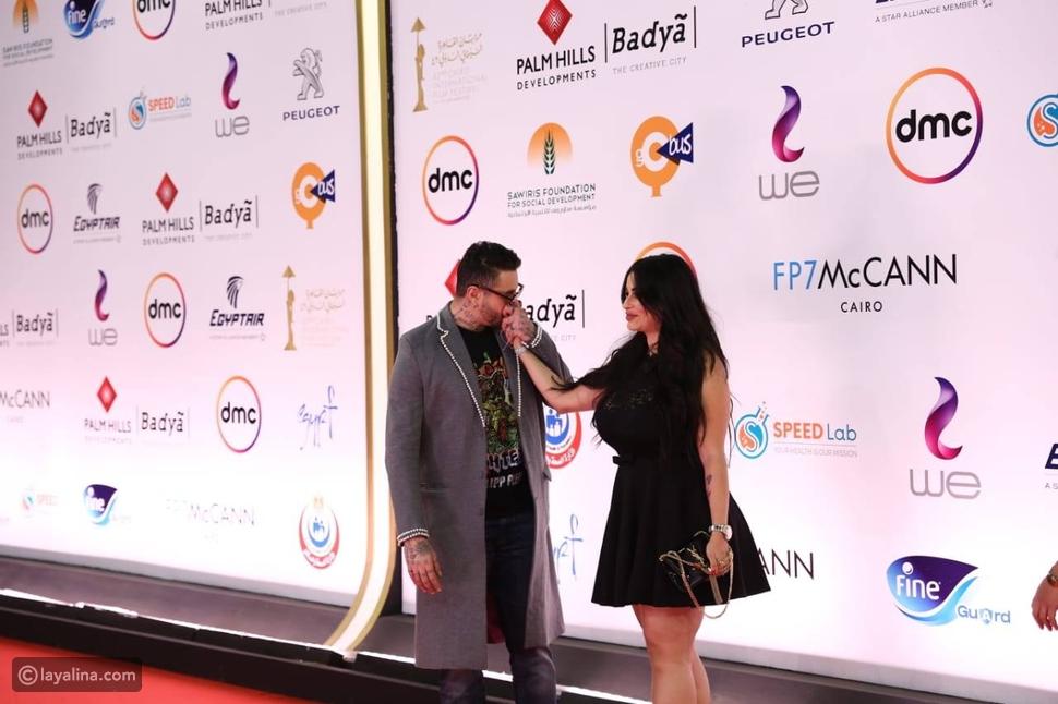 جدل على السجادة الحمراء بسبب ثنائيات المشاهير في ختام مهرجان القاهرة