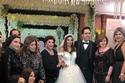 غادة رجب مع النجمات في حفل زفافها