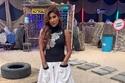 فستان بسيط ليلى عبدالله يناسب جو المسابقات التي تقدمها في رمضان