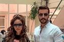 نور الغندور مهند الحمدي خلال تصوير مسلسلهما جمان