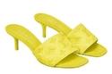 حذاء ميول Revival Mules باللون الأصفر عالي الكعب