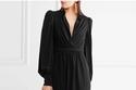 فستان سهرة أسود من ALEXANDER MCQUEEN
