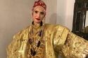 أشعل فستان زفاف هناء عبد السلام المصنوع من الذهب الخالص مواقع التواصل