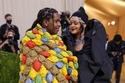 A $ AP Rocky و Rihanna  بفستان من Balenciaga