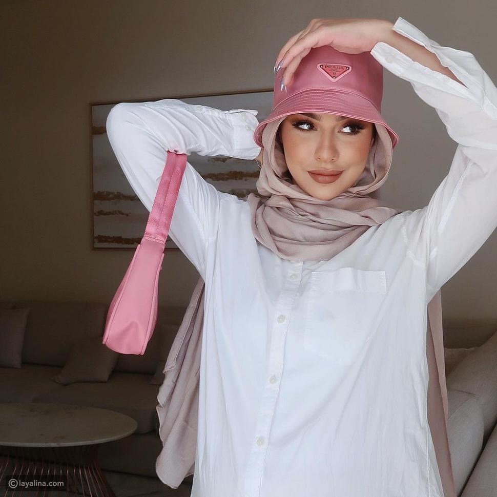 لفات حجاب تناسب موديلات القبعات الصيفية 2021