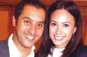 المصري أحمد الشريف مع زوجته التونسية الفنانة هند صبري