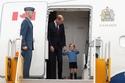 الأمير ويليام برفقة طفله الأمير جورج