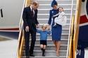 العائلية الملكية البريطانية خلال وصولها إلى كندا