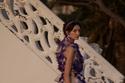 فستان أرجواني بالزهور من مجموعة Luisa Beccaria هوت كوتور شتاء 2021