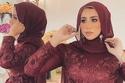 لفات حجاب سواريه للمناسبات الانسيابية