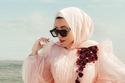 لفات حجاب سواريه للمناسبات بأقمشة الشيفون