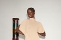 فستان أنيق باللون البيج من مجموعة Victoria Beckham
