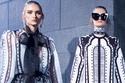 أزياء مزخرفة باللون الأبيض والأسود من مجموعة إيلي صعب لخريف 2021