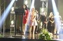 لحظة تكريم ميرهان حسين في مهرجان الاعلام العربي