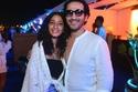 أحمد حلمي مع ابنته الكبرى في حفل جينيفر لوبيز