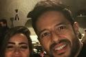 سيلفي الزوجان في حفل عيد ميلاد محمد حماقي