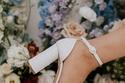 موديلات أحذية زفاف بأربطة على الكاحل