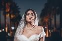 هاجر أحمد بفستان زفاف ملكي بسيط
