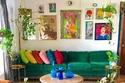 ديكور بوهيمي بعتمد على مزج الألوان والسجاد اليدوي والزرع