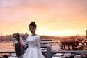 موديلات فساتين زفاف ستان ناعمة منفوشة