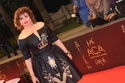 نقوش غريبة على فستان إلهام شاهين بحفل السينما العربية