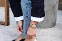 موضة  الأحذية الكعب الصغير مع ديور